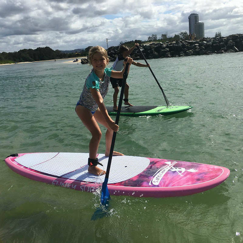 Kids Epoxy Quot Swirly Girly Quot Stand Up Paddleboard
